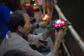 Loy Krathong Day in Thailand — Stock Photo