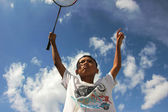Badminton asian sport boy — Stock Photo