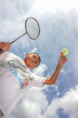 Badminton boy — Stock Photo