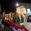 Elephant in thai carnival — Stock Photo