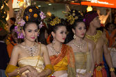 Pretty thai fancy in loy Krathong festival — Stock Photo
