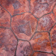 Stone red tiles floor texture — Stock Photo