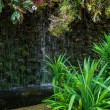 Artificial waterfall in butterfly garden, Thailand — Stock Photo