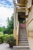 Thai traditional old Staircase — Stock Photo