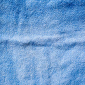 Blue towel texture and background — Stock Photo