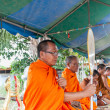 Stock Photo: CHAIYAPHUM,THAILAND May 15 : Unidentified thai Chaiyaphum monks