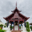 Traditional thai architecture in the Lanna style , Royal Pavilion (Ho Kum Luang) at Royal Flora Expo, Chiang Mai, Thailand — Stock Photo