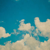 Clouds in the blue sky and Vintage Blue Sky — Stock Photo