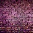 Purple grunge brick wall background — Stock Photo