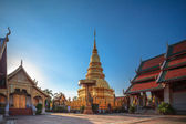 Wat phra that hariphunchai was a measure of the Lamphun,Thailand — Stock Photo