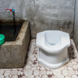 Stock Photo: Thai traditional old toilet