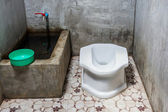 Thai traditional old toilet — Stock Photo