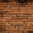 Red brick wall texture grunge background — Stockfoto