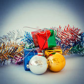 Christmas decoration for background vintage — Stock Photo