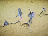 Yellow cracked wall texture — Stock Photo