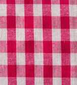 White and red checkered background close up — Stock Photo