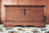 Old wood box — Stockfoto