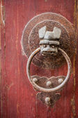 Old handle door — 图库照片