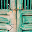 Old door paint green for vintage style — Stock Photo #43251261