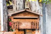 Old wood mailbox — Stock Photo
