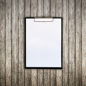 Old wood and paper clipboard with space for text — Stock Photo