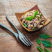 Spicy minced meat salad, laab moo thai food — Stock Photo