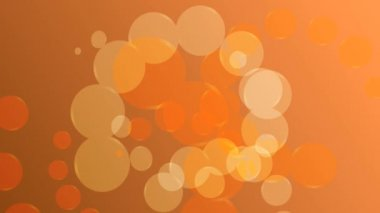 Abstract orange background with circles loop — Stock Video