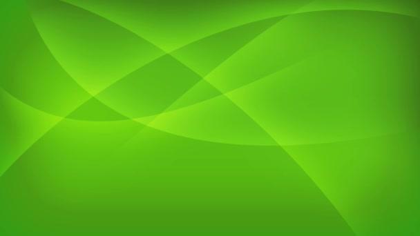 Fondo verde con líneas curvas en movimiento — Vídeo de stock