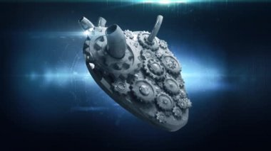 Animation of heart gears working together — Vidéo