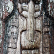 Alaska wooden face — Stock Photo