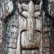 Alaska wooden face — Photo