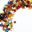 colorful glass beads — Stock Photo