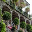 House with balcony, New Orleans — Stock Photo