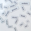Stock Photo: English vocabulary