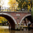 Bridge on the Dutch canal, Amsterdam — Stock Photo