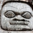 Alaska wooden face — Stockfoto
