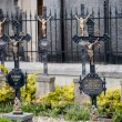 Prague, Vysehrad, graveyard cemetery — Stock Photo