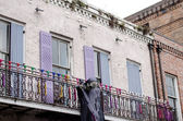 Halloween decoration on the balcony, New Orleans — Stock Photo