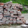 Pile of bricks prepared for building — Stock Photo