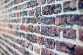 Brick wall pattern with shallow depth of field and perspective — Stock Photo
