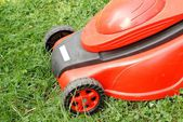 Detail of lawn mower — Stock Photo