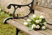 White wedding bouquet — Stock Photo