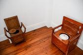 Historical toilets — Stockfoto