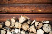 木材的壁炉 — 图库照片