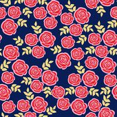 Cute seamless pattern with roses, floral vector illustration background — Stock Vector