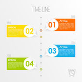Timeline infographics template, vector illustration — Vettoriale Stock