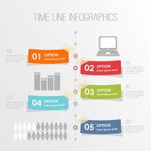 хронология инфографика шаблон, векторные иллюстрации — Cтоковый вектор