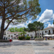 A central square of a small European town, Portugal — Stock Photo