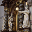 Stock Photo: Statues of saints inside church