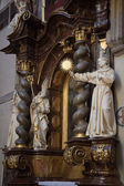 Statues of saints inside the church — Stock Photo